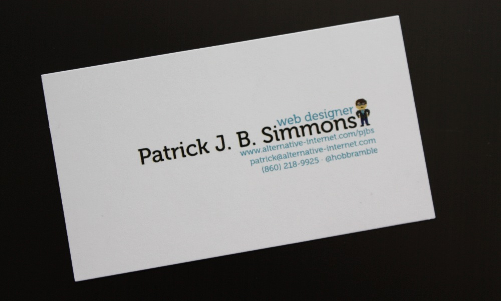 Pretty Business Card Twitter Photos - Business Card Ideas - etadam ...